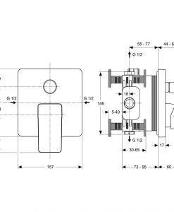 Вграден смесител за вана/душ Ideal Standard STRADA A5853AA