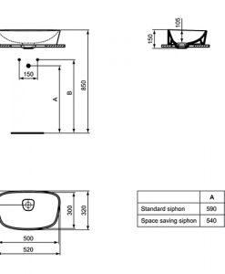 Мивка за монтаж върху плот DEA T0443
