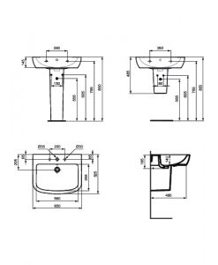 Порцеланов умивалник Ideal Standard Tempo T0563