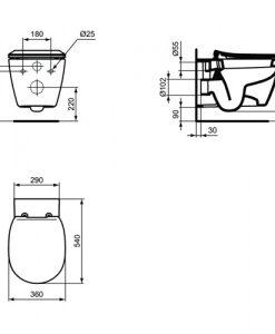Окачена тоалетна Ideal Standard CONNECT E7718