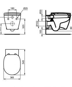 Окачена тоалетна Ideal Standard Connect E8035