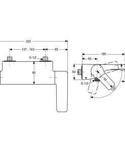 Смесител за вана Ideal Standard ATTITUDE A4604AA