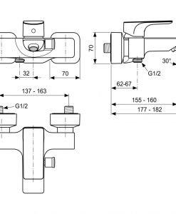 Смесител за вана/душ Ideal Standard STRADA А5848AA