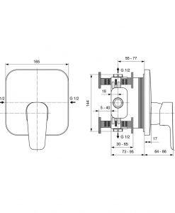 Вграден смесител за душ Ideal Standard CERAPLAN III A6114AA