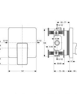 Вграден смесител за душ Ideal Standard STRADA A5852AA