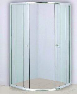 Душ кабина овална 80*80 прозрачно стъкло МАКЕДОНИЯ 485 80