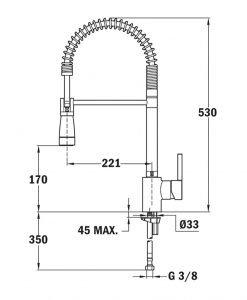 Кухненски смесител Teka Ares K939 Б.036.ХР