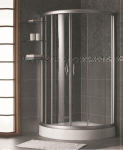 Овална душ кабина модел 175S 90*90 мат стъкло