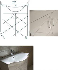 PVC мебел за баня 7044