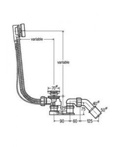 Автоматичен сифон за вана 285357