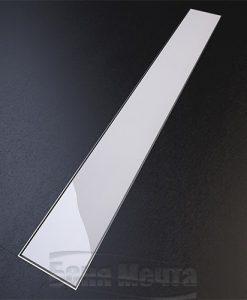 Лентов сифон GLASS бяло стъкло