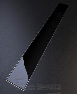 Лентов сифон GLASS черно стъкло