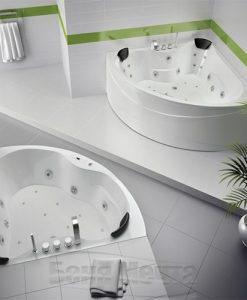 Ъглова хидромасажна вана модел София 140*140 и 150*150