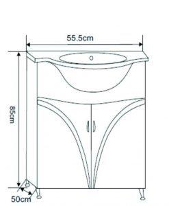 PVC шкаф за баня модел Симоне 5519