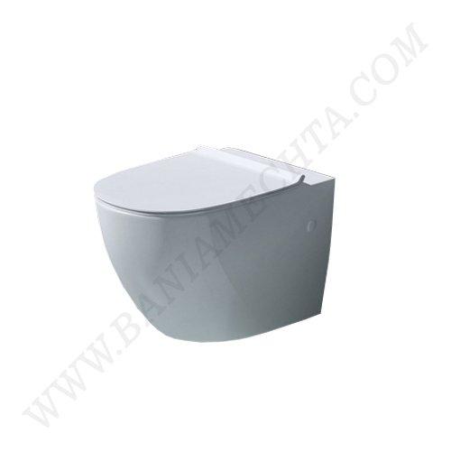 Конзолна тоалетна чиния PIZA с ултратънък капак