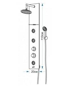 Хидромасажен панел ЕМОНА 3684P