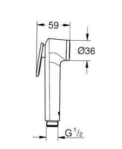 Санитарен ръчен душ GROHE TEMPESTA F 27512001