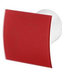 Вентилатор за баня червено огънато стъкло мат Awenta KW100