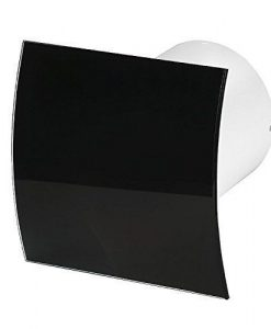 Вентилатор за баня черно огънато стъкло гланц Awenta KW100