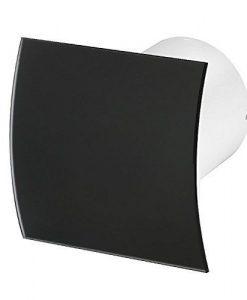 Вентилатор за баня черно огънато стъкло мат Awenta KW100