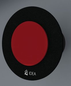 ВЕНТИЛАТОР DOUBLE OVAL BLACK RED O-0337-3004