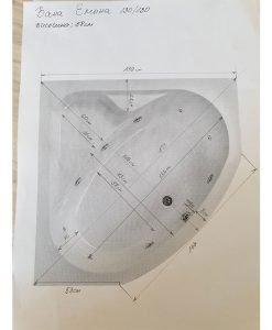 Ъглова акрилна вана модел Емона 130*130