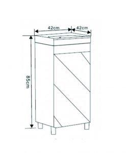 Компактен PVC шкаф за баня 4242
