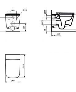 Конзолна тоалетна без ринг с капак Soft Close MIA STRADA J5047