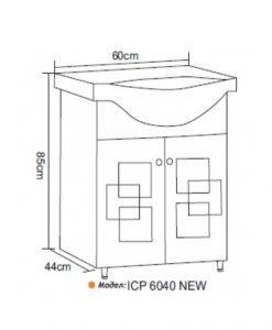 PVC шкаф с умивалник модел 6040 NEW
