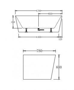 Свободно стояща вана LB 1736 170*78*60