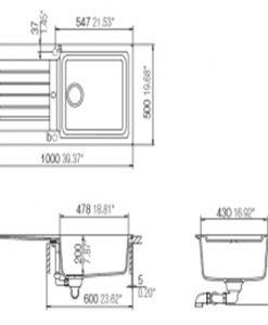 Кухненска мивка LUGO 60L