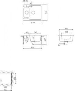 Кухненска мивка LUNA 60S