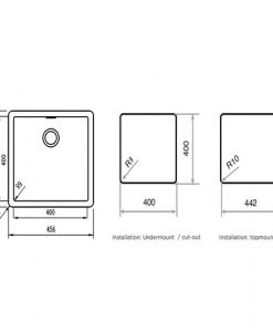 Кухненска мивка RADEA M432