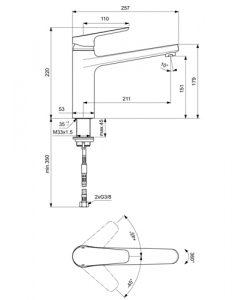 Стоящ смесител за кухня CERAPLAN III висок лят чучур B0952