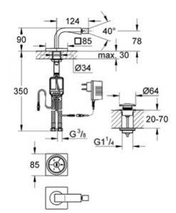 Дигитален смесител за биде GROHE ALLURE F DIGITAL 36346000