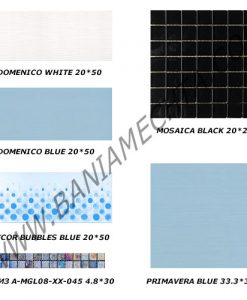 Плочки за баня серия DOMENICO BLUE