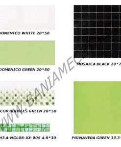 Плочки за баня серия DOMENICO GREEN