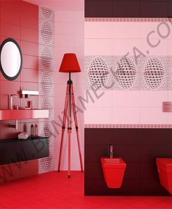 Плочки за баня HAPPY RED AND BLACK