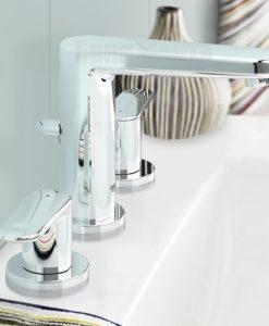 Тридупков смесител за мивка GROHE EUROSPLUS 20301000