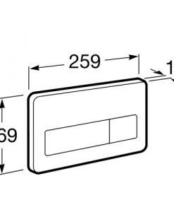 Вандалоустойчив двустепенен бутон за вградено казанче PL3 IN WALL A890097004