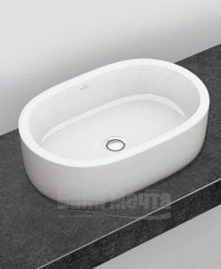 Овална мивка за монтаж върху плот 60 см VILLEROY & BOCH Architectura