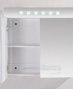 Огледален PVC шкаф за баня 80 см 465080