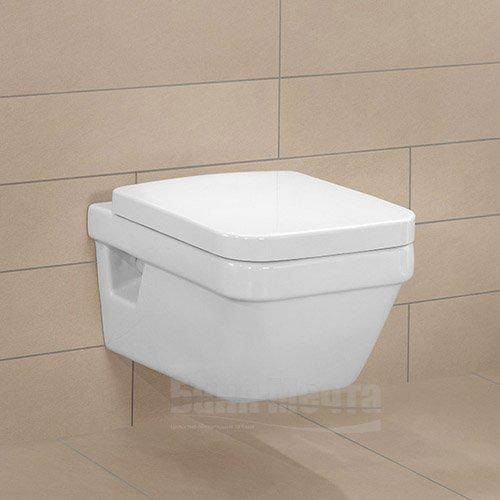 Окачена тоалетна VILLEROY & BOCH Architectura с капак със забавено падане