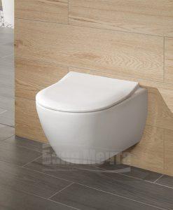 Окачена тоалетна VILLEROY & BOCH Subway 2 DirectFlush Combi с ултратънък капак със забавено падане