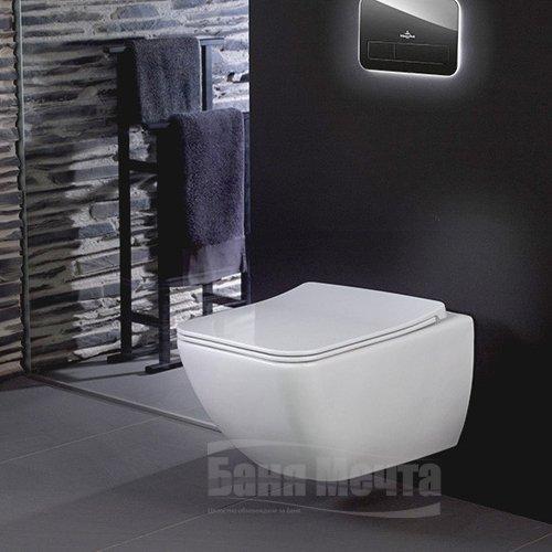 Окачена тоалетна VILLEROY & BOCH Venticello DirectFlush с капак със забавено падане