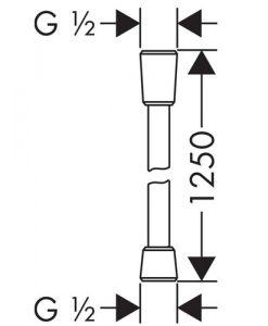 Шлаух 125 см HANSGROHE ISIFLEX 28272000