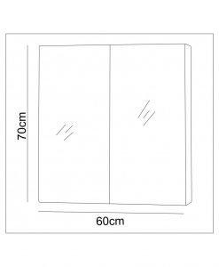 Огледален червен PVC шкаф за баня 7013