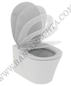 Конзолна тоалетна чиния със седалка с плавно затваряне CONNECT AIR