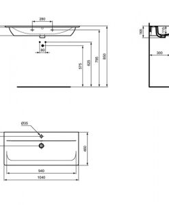 Мивка за мебел 104 см CONNECT AIR