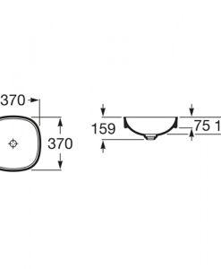 Мивка SOFT за монтаж върху плот INSPIRA 32750R000